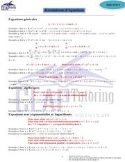 fiche 9 formules equations