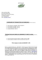information tarifs