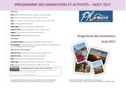 programme animations aout 2017