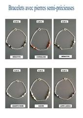 Fichier PDF bracelets avec pierres semi precieuses