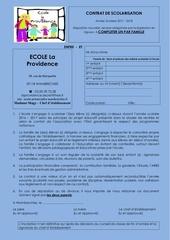 Fichier PDF contrat de scolarisation