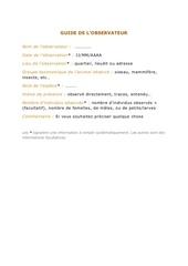 guide observateur faune vx