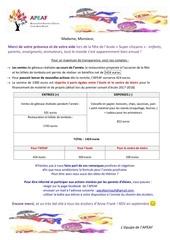 Fichier PDF mot remerciements et recette fete