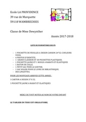 Fichier PDF fournitures ps ms