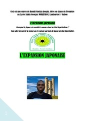 l expansion japonaise