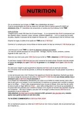 programme nutrition b
