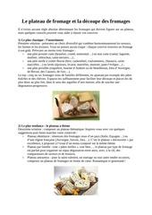 comment decouper les fromages