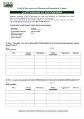 questionnaire recensement outils