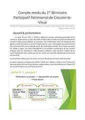 compte rendu seminaire participatif 29 juin