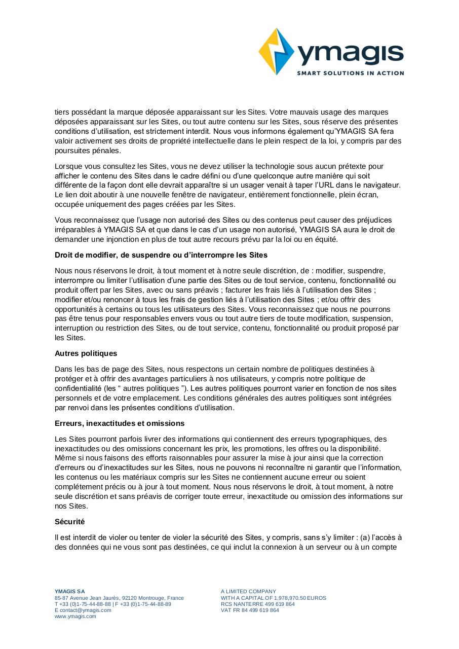 Aperçu du document CONDITIONS GÉNÉRALES D'UTILISATION_Terms of Use_FR.pdf - page 3/5