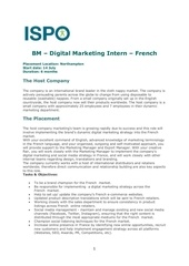 bm digital marketing intern french