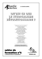 cahiern05syndicalismerevolutionnaire