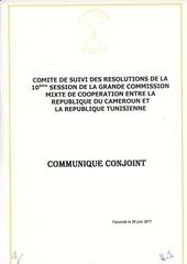 communique conjoint du comite de suivi 2017