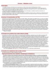 Fichier PDF maladies rares