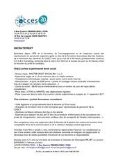 annonce acces offre emploi juriste experimente sept 2017