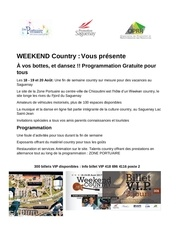 weekend country programmation 5 juillet