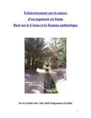 Fichier PDF eclaircissement sur le nature d un jugement en islam vf
