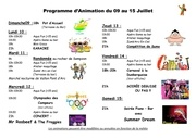 animations du 09 au 15 juillet