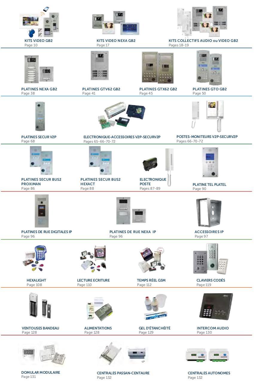 2017 Catalogue Portier 36 Golmar Fichier Pdf Intercom Wiring Diagram Golmarpdf Page 3 140