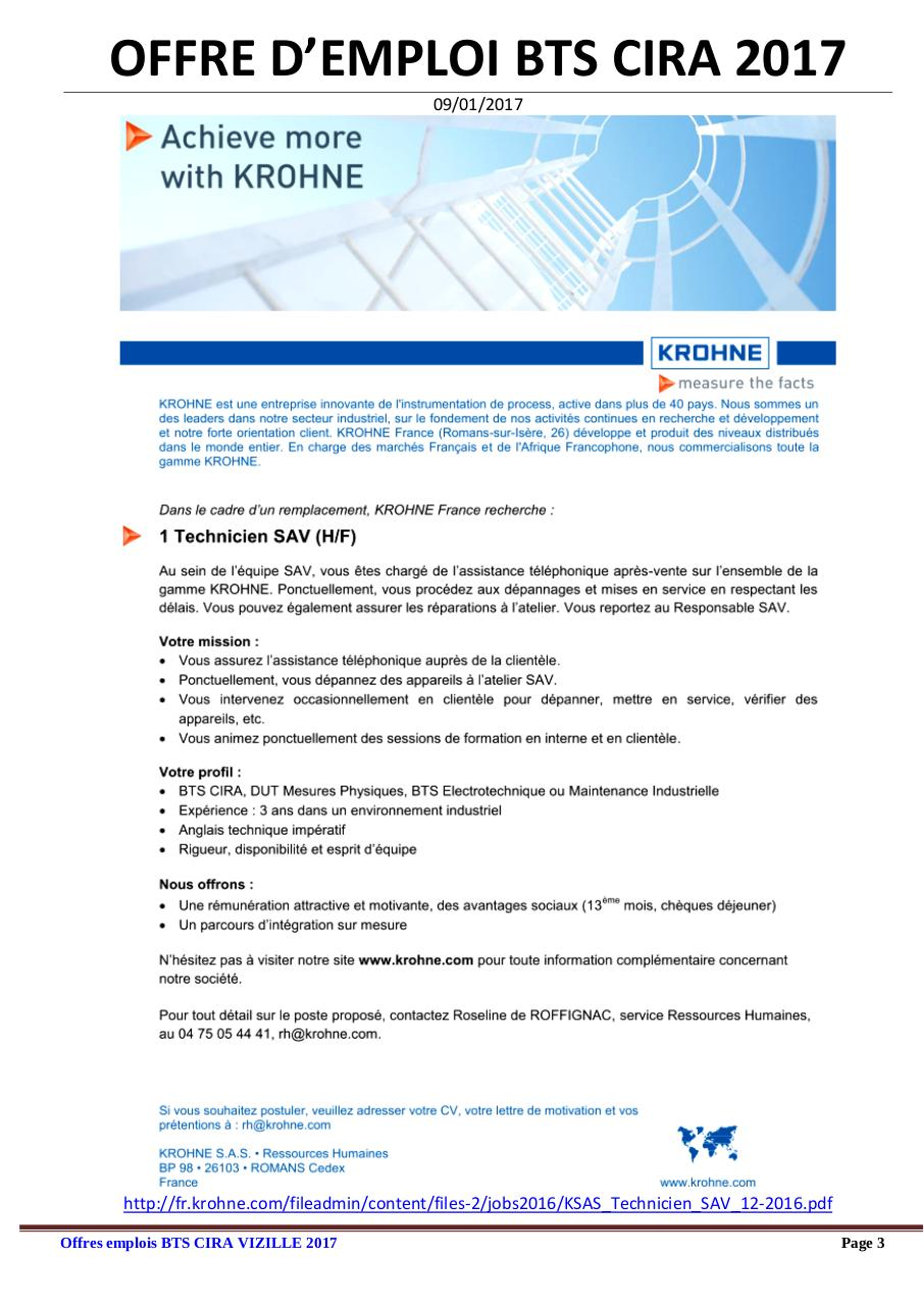 089be745b5e Salaire départ   par CecileCintas - Offres emploi BTS CIRA 2017 ...