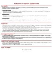 hta severe et urgences hypertensives
