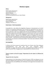 mentions legales site internet la maison des freres