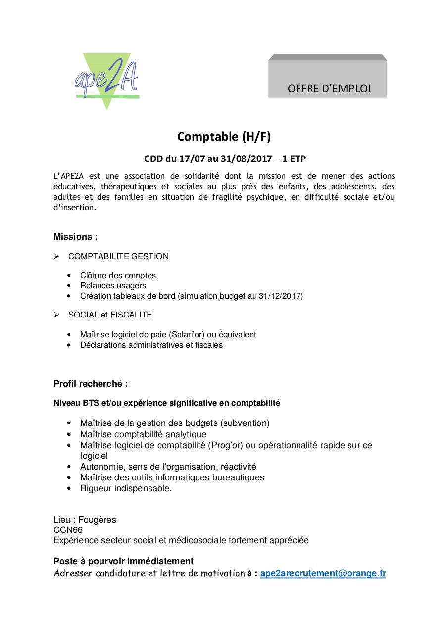Comptable Docx Par Laurent C Ape2a Comptable Pdf