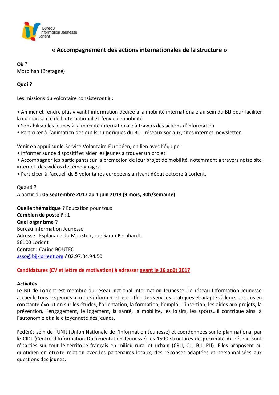 Descriptif Du Reseau Information Jeunesse Par Nivas Bij Lorient
