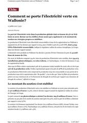 comment se porte l elec vert en wal 2017