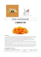 fiche nutritionnelle abricot sec y o concept