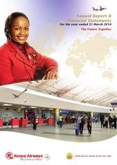 kenya airways financial annual report 2017