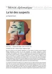 la loi des suspects