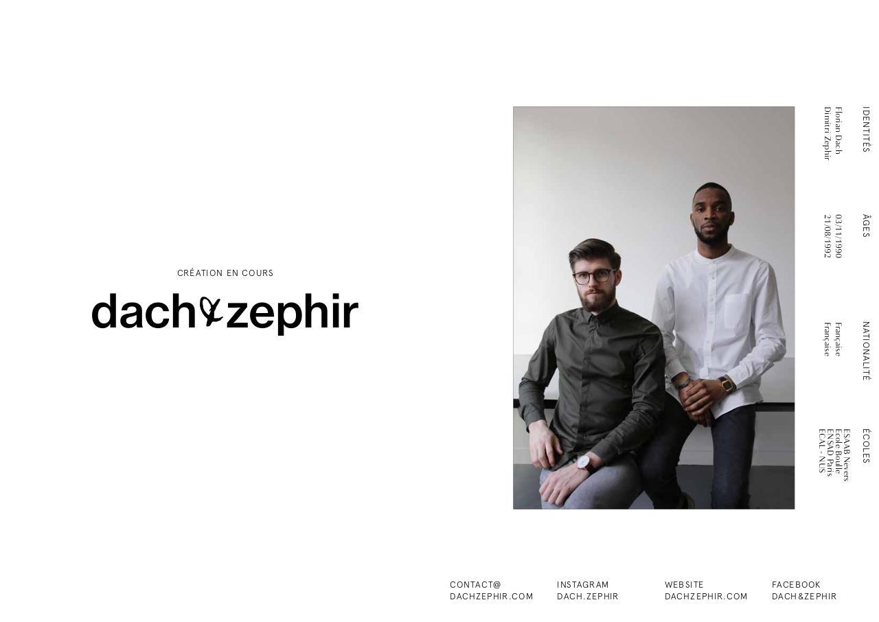 portfolio cv lettre  dach u0026zephir  creation en cours