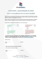 attestation de sante et questionnaire