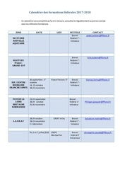 calendrier des formations federales 2017 2018 1