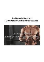 le dico du muscle l hypertrophie musculaire