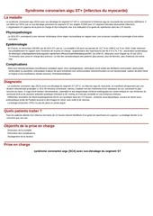syndrome coronarien aigu st infarctus du myocarde