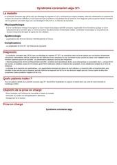 syndrome coronarien aigu st