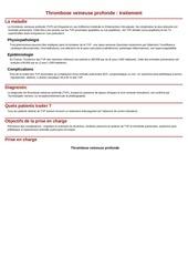 Fichier PDF thrombose veineuse profonde traitement