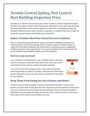 pest control sydney price