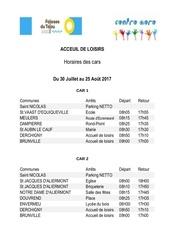 horaires bus falaises du talou aout 2017