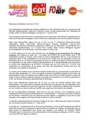 lettre aux elus suppression des tresoreries 2018