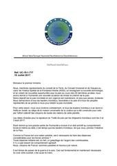 lettre aux leaders mondiaux premier ministre