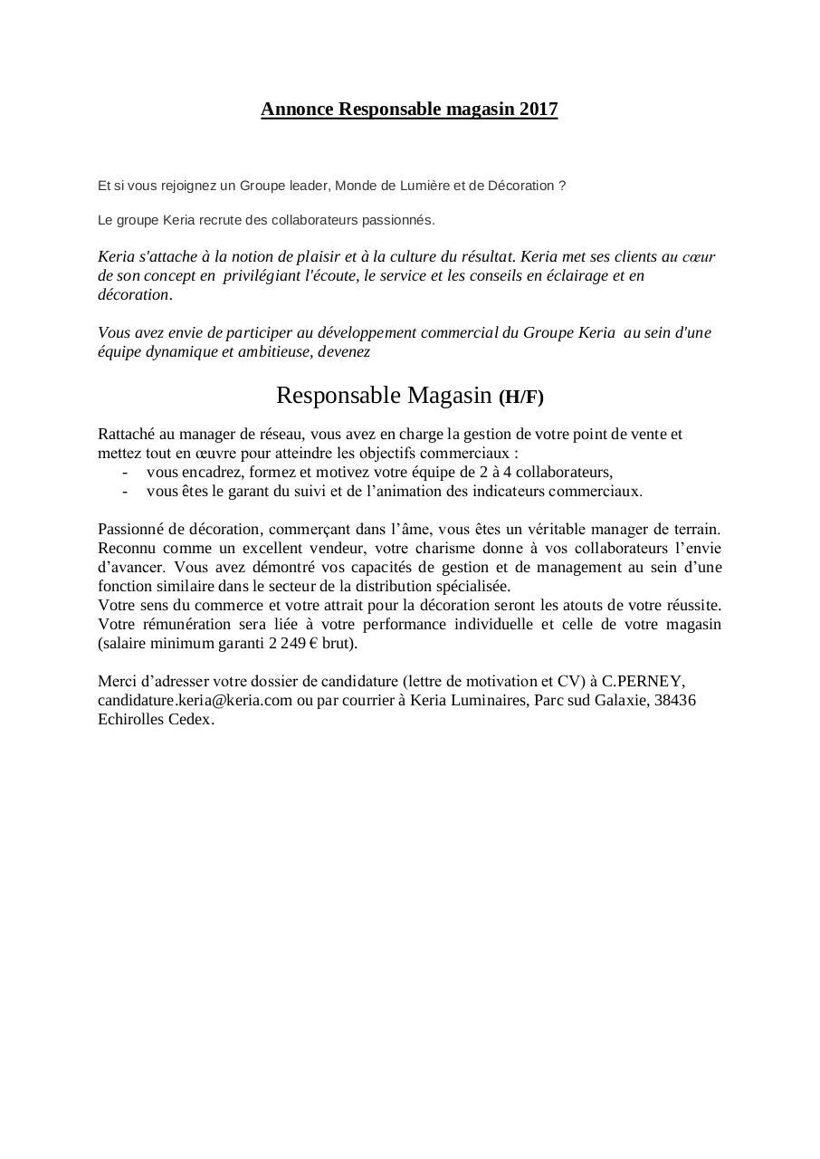 Recherche Pdf Exemple De Dspp Vendeur En Magasin