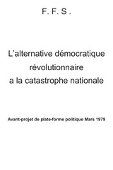 l alternative democratique revolutionnaire