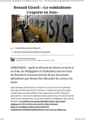 le wahhabisme s exporte en asie