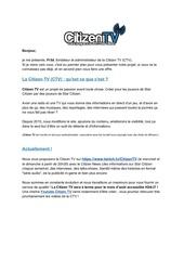 projet corporation sc et ctv