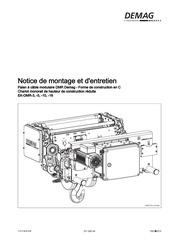 notice de montage et d entretien ek dmr 3 10 16