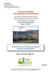 181 3 expertise geologique tavignau vivu n 3 brgm
