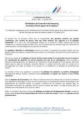 attribution de mme genevieve darrieussecq pdf